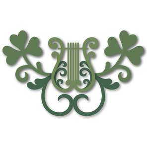 flourish harp shamrocks