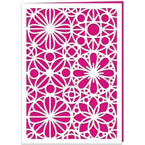 geometric flower card