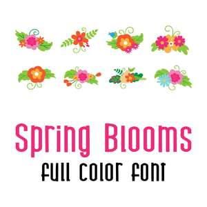 sweet blooms full color font