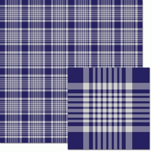 navy plaid pattern