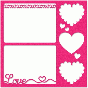 xoxo five-photo frame