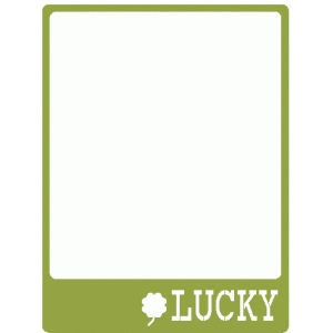 lucky journaling card