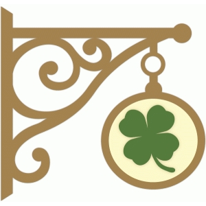 hanging clover sign