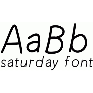 saturday font