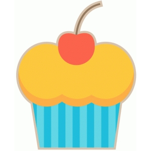 birthday cupcake with cherry