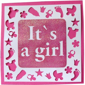 daniela angelova its a girl card