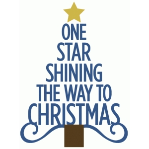 one star shining christmas tree
