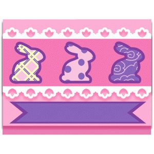 bunny cut out card