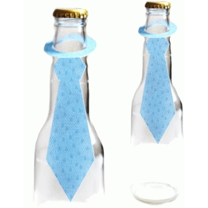 fathers day tie bottle topper