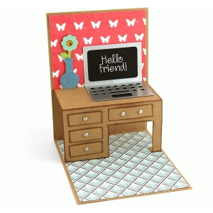 a2 desk pop up card