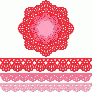 12 inch doily border set radiating eyelet edge