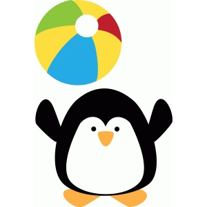 beach ball penguin