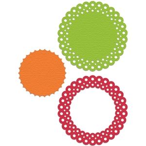 background frame_scallop dotted circle