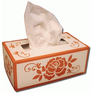 3d flower rectangle tissue box