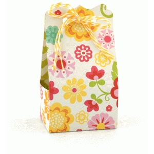 2 on 12x12 bracket ribbon tie treat box