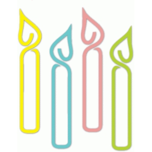 outline birthday candles