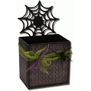 3d spider web decorative gift box