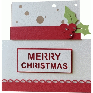 5x5 christmas cake layer card