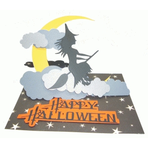 silhouette design store view design 67732 hanging witch easel card