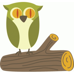 owl on log