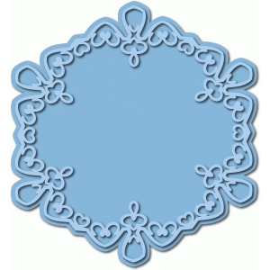 flourish frame/topper