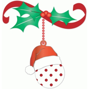 polka dot christmas ornament