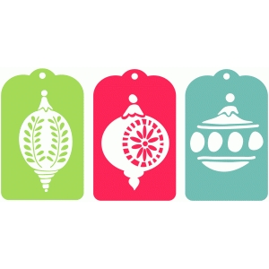 vintage ornaments gift tags
