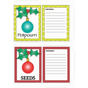 christmas seed/potpourri packets