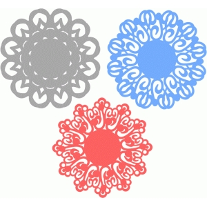 winter doilies set