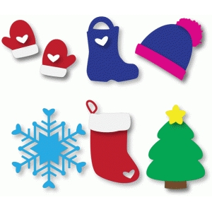 cute holiday essential shapes