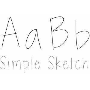 simple sketch font