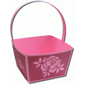 3d xl handle flower basket