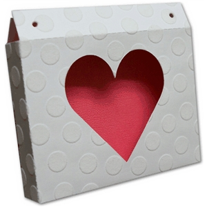 horizontal heart gift box