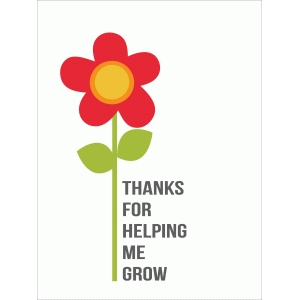thanks for helping me grow quote card
