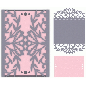 ornate floral gatefold card