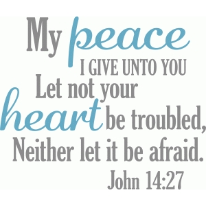 my peace i give unto you
