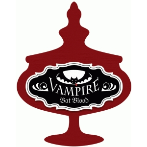 vampire bat blood potion label