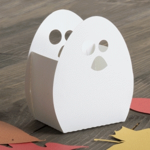 3d ghost treat box