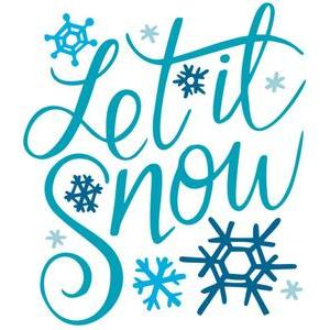 let it snow hand lettered