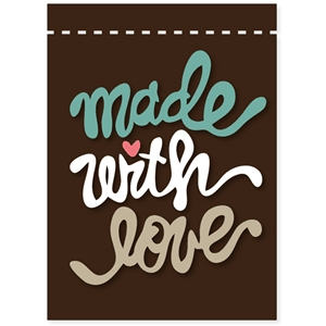 'made with love' label