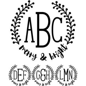 monogram type - merry & bright