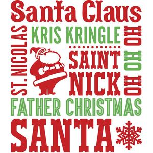 santa names subway art