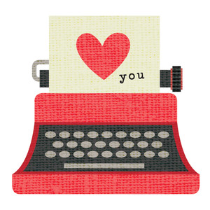 love you typewriter