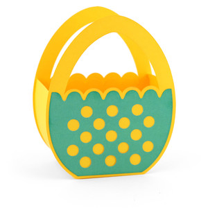 easter egg shaped basket dots