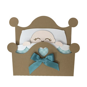 baby in cot card