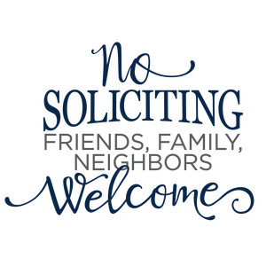no soliciting phrase