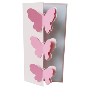 3 butterflies fold over card