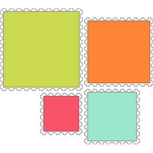 8 piece square stamp set