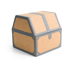 3d treasure chest box