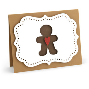 a2 pop dot card gingerbread man